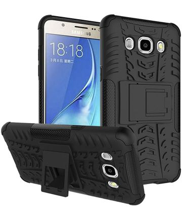 Samsung Galaxy J5 (2016) Hybrid Kickstand Hoesje Zwart