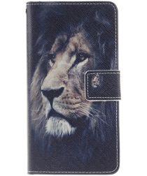 Huawei P9 Lite Portemonnee Print Hoesje Leeuw