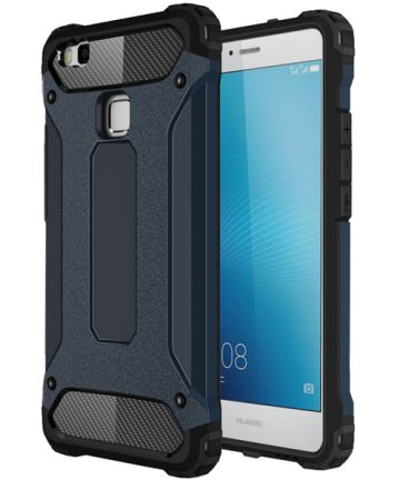 Huawei P9 Lite Armor Guard Hybrid Case Donker Blauw