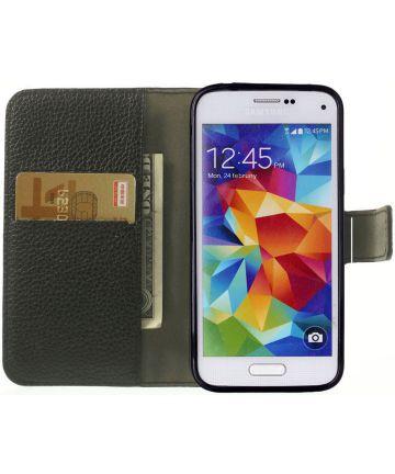 Samsung Galaxy S5 Mini Portemonnee Hoesje Zwart