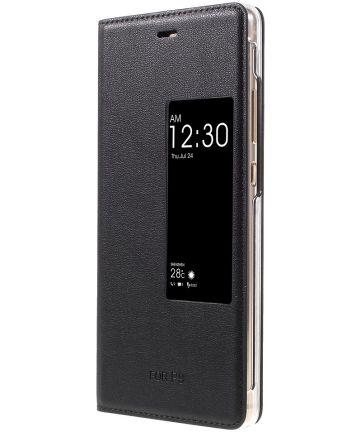 Huawei P9 Window View Hoesje Zwart Hoesjes