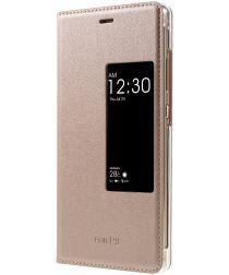 Huawei P9 Window View Hoesje Roze Goud