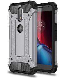 Motorola Moto G4 Hybrid Armor Hoesje Grijs