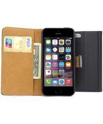 Apple iPhone SE Wallet Stand Case Zwart