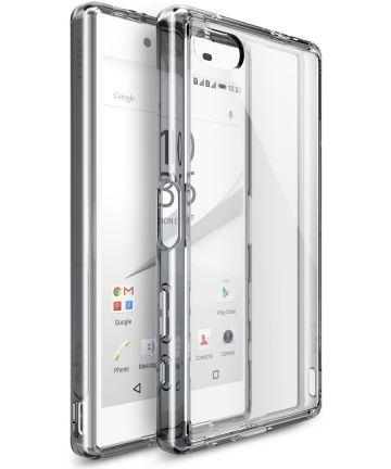 Ringke Fusion Sony Xperia Z5 Compact Hoesje Doorzichtig Smoke Black Hoesjes