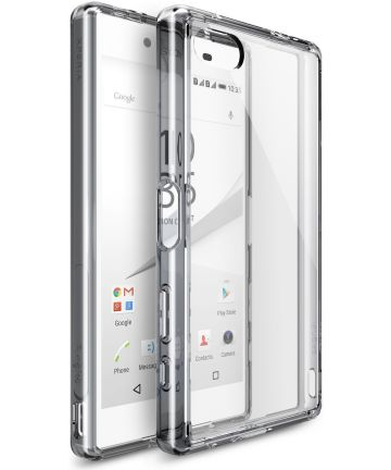 Ringke Fusion Sony Xperia Z5 Compact Hoesje Doorzichtig Smoke Black