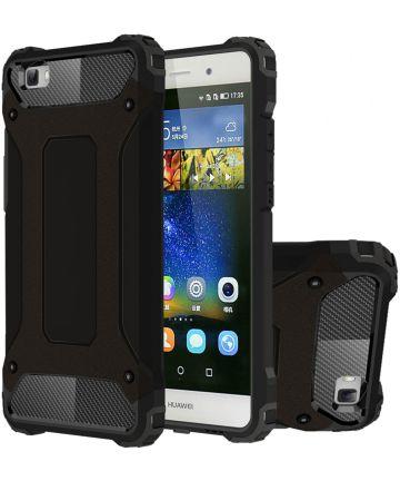 Hybride Huawei Ascend P8 Lite Hoesje Zwart