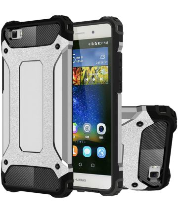 Hybride Huawei Ascend P8 Lite Hoesje Grijs