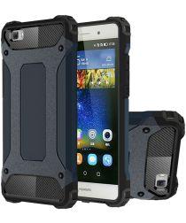 Hybride Huawei Ascend P8 Lite Hoesje Donker Blauw