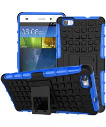 Huawei Ascend P8 Lite Achterkant Hoesje Blauw