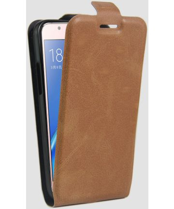Samsung Galaxy J5 (2016) Vertical Wallet Flip Case Bruin