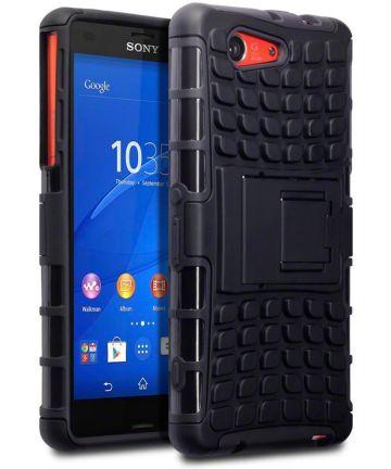 Sony Xperia Z3 Compact Antislip Back Cover Hoesje Zwart