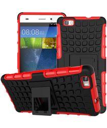 Huawei Ascend P8 Lite Achterkant Hoesje Rood