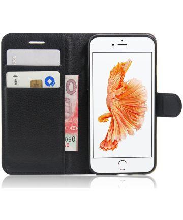 Apple iPhone 7 / 8 Stijlvol Hoesje met Kaarthouder Zwart Hoesjes