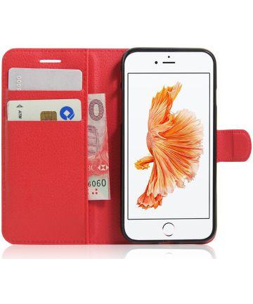 Apple iPhone 7 / 8 Hoesje met Kaarthouder Rood