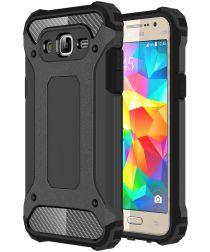 Samsung Galaxy J5 Hybride Hoesje Zwart