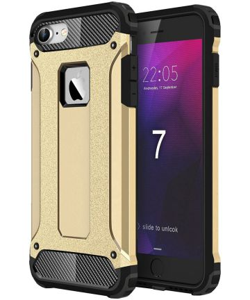 Apple iPhone 7/8 Hoesje Shock Proof Hybride Back Cover Goud
