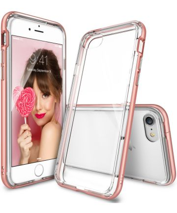 Ringke Frame Hoesje Apple iPhone 7 / 8 Roze Goud
