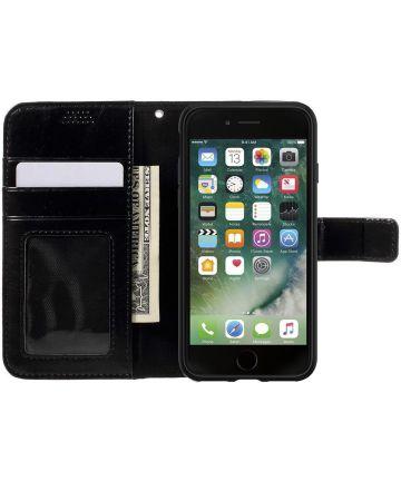 Apple iPhone 7 / 8 Portemonnee Booktype Hoesje Zwart