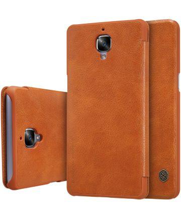 Nillkin Qin Book Case OnePlus 3T / 3 Bruin Hoesjes