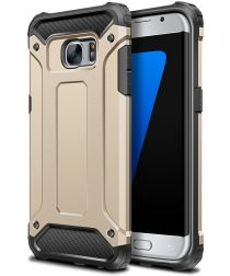 Samsung Galaxy S7 Hoesje Shock Proof Hybride Back Cover Goud