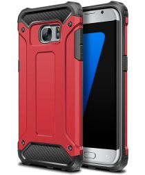 Samsung Galaxy S7 Hoesje Shock Proof Hybride Back Cover Rood