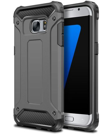 Samsung Galaxy S7 Hoesje Shock Proof Hybride Back Cover Grijs