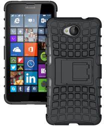 Microsoft Lumia 650 Hoesje anti-slip stand Zwart
