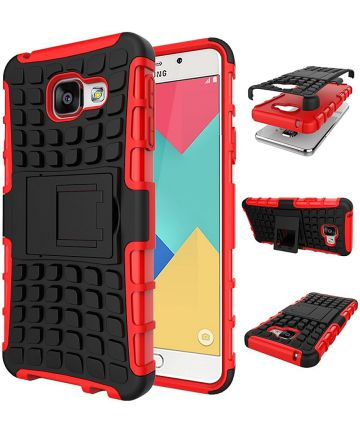 Samsung Galaxy A3 (2016) Hybride Stand Hoesje Rood Hoesjes