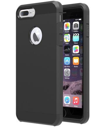 Apple iPhone 7 Plus / 8 Plus Hybride Cover Zwart