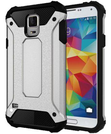 Hybride Samsung Galaxy S5 Hoesje Zilver