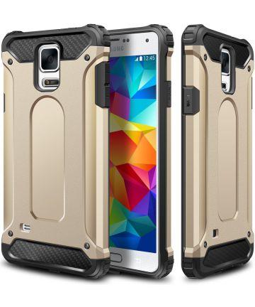 Hybride Samsung Galaxy S5 Hoesje Goud