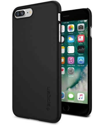Spigen Thin Fit Case Apple iPhone 7 Plus / 8 Plus Zwart