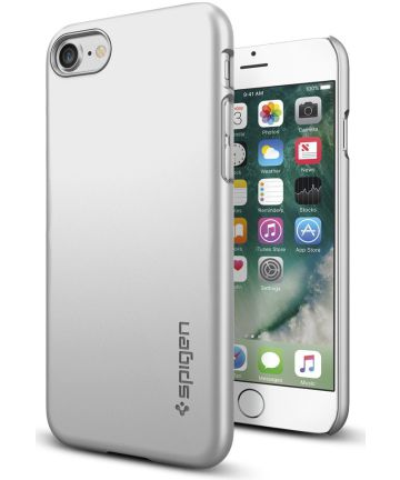 Spigen Thin Fit Case Apple iPhone 7 / 8 Zilver