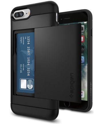 Spigen Slim Armor Card Holder Case Apple iPhone 7 Plus / 8 Plus Black