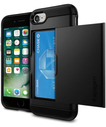Spigen Slim Armor Card Holder Case Apple iPhone 7 / 8 Black