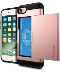 Spigen Slim Armor Card Holder Case Apple iPhone 7 / 8 Rose Gold