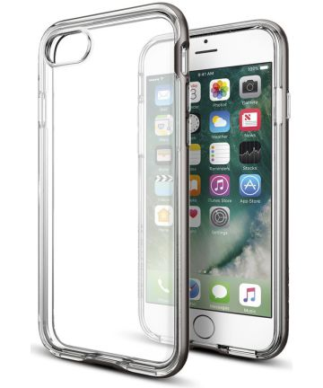 Spigen Neo Hybrid Crystal Case iPhone 7 / 8 Gunmetal