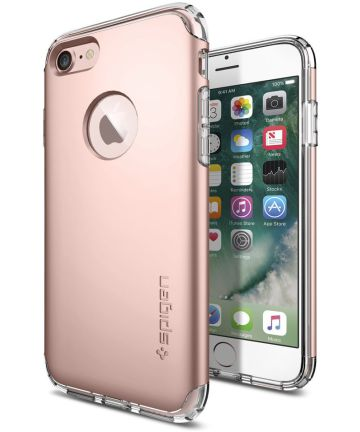 Spigen Hybrid Armor Hoesje Apple iPhone 7 Roze Goud