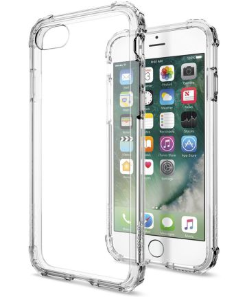 Spigen Crystal Shell Hoesje Apple iPhone 7 / 8 Clear Crystal Hoesjes