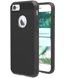 Apple iPhone 7 Hybride Cover Zwart