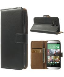 HTC One M8 Portemonnee Hoesje Zwart
