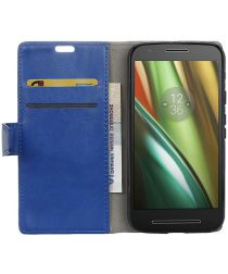 Motorola Moto E 3rd Gen hoesje met kaarthouder Blauw