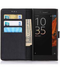 Sony Xperia XZ / XZs Portemonnee Hoesje Zwart