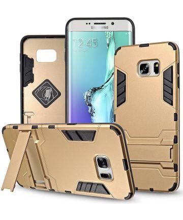 Hybride Samsung Galaxy S6 Edge Hoesje Goud