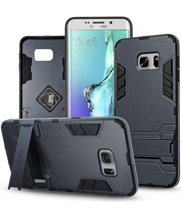 Hybride Samsung Galaxy S6 Edge Hoesje Blauw
