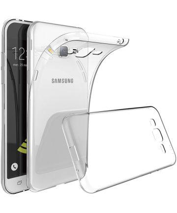 Samsung Galaxy J3 (2016) Hoesje Dun TPU Transparant Hoesjes