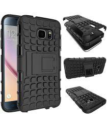 Hybride Samsung Galaxy S6 Back Cover Zwart