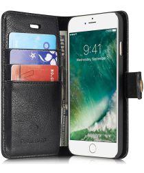 Apple iPhone 7 / 8 Portemonnee Hoesje Echt Leer Zwart