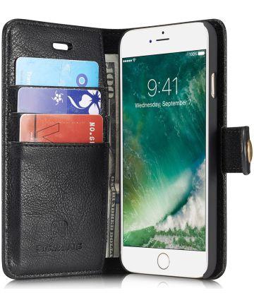 Apple iPhone SE (2020) Portemonnee Hoesje Echt Leer Zwart